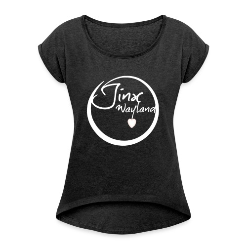 Jinx Wayland Circle White - Women's T-Shirt with rolled up sleeves