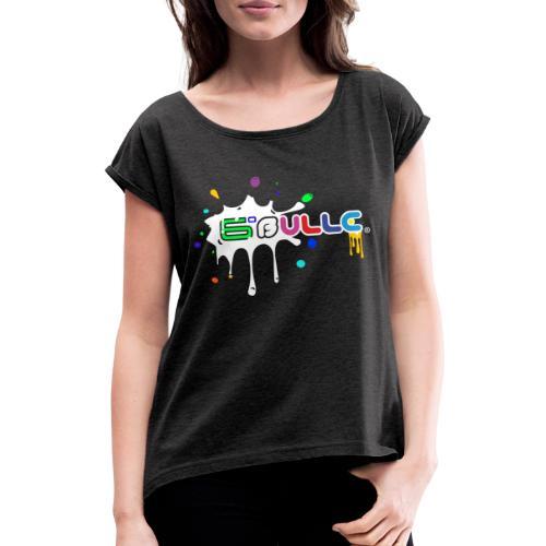 6bulle Spash blanc - T-shirt à manches retroussées Femme