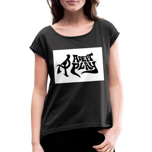 Adept Play logo crop - T-shirt med upprullade ärmar dam