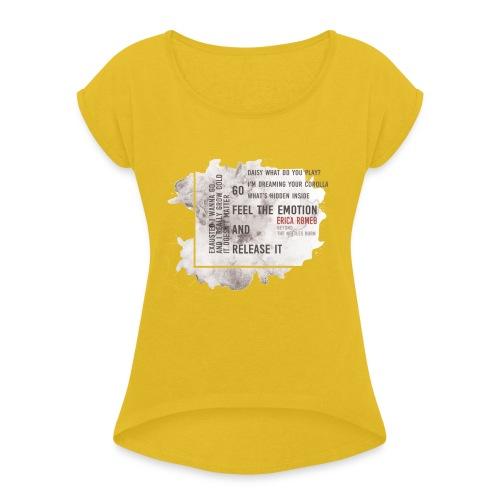 Erica Romeo_beyond_the_nettles_burn_-_flower_b&n - Maglietta da donna con risvolti