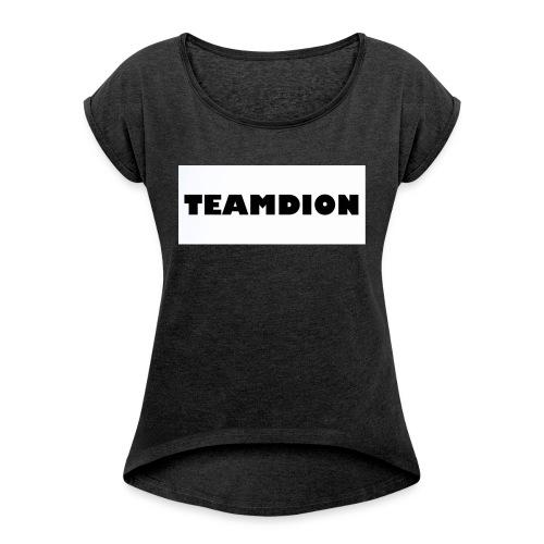 25258A83 2ACA 487A AC42 1946E7CDE8D2 - Women's T-Shirt with rolled up sleeves
