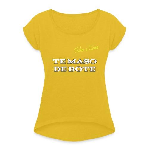 TE MASO DE BOTE - Maglietta da donna con risvolti