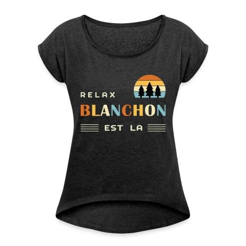blanchon tshirt - T-shirt à manches retroussées Femme