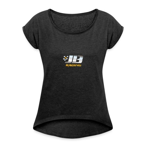 Logo Transparent 01 - Women's T-Shirt with rolled up sleeves