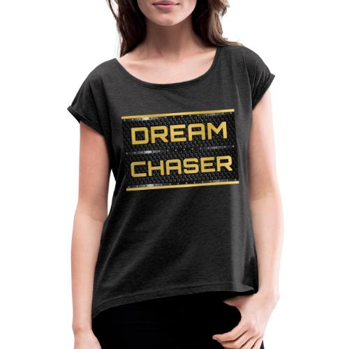 DREAM CHASER Gold - Vrouwen T-shirt met opgerolde mouwen