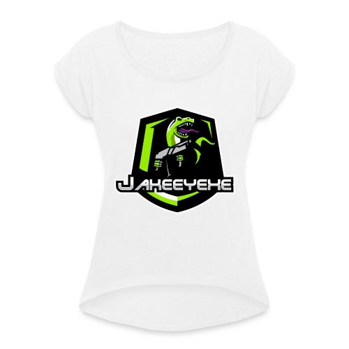 JakeeYeXe Badge - Women's T-Shirt with rolled up sleeves