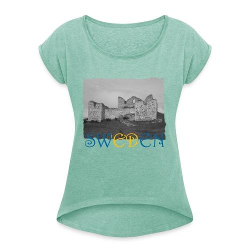 SWEDEN #1 - Frauen T-Shirt mit gerollten Ärmeln