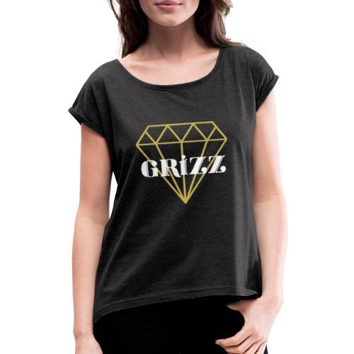 Logo grizz - T-shirt à manches retroussées Femme