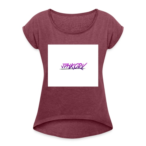 Nice Merch for all peoples!!! - T-shirt med upprullade ärmar dam