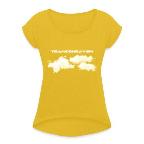 tranceheaven - T-shirt med upprullade ärmar dam