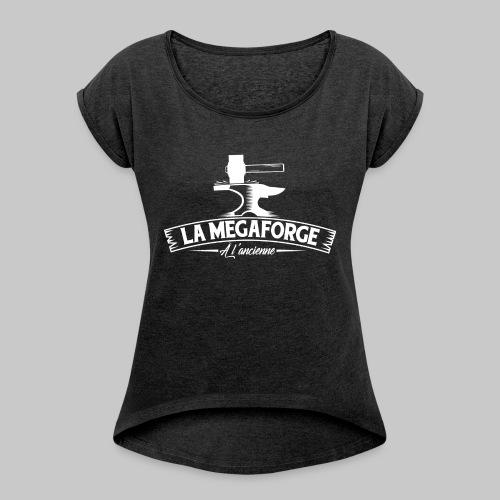 À l'ancienne - T-shirt à manches retroussées Femme