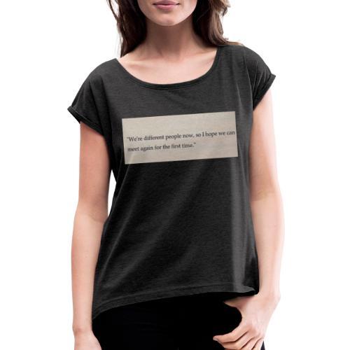 Time - Frauen T-Shirt mit gerollten Ärmeln
