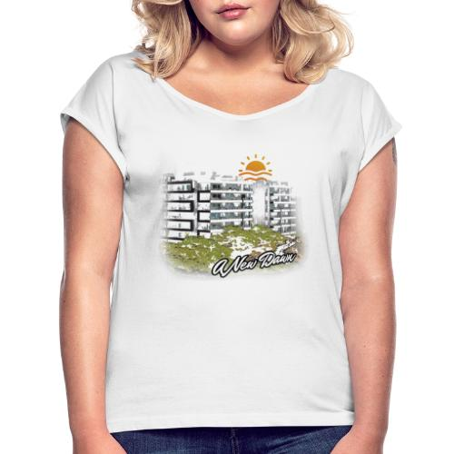 NewDawn WHITE - Women's T-Shirt with rolled up sleeves
