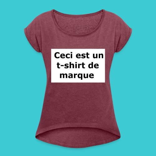 t-shirt2 - T-shirt à manches retroussées Femme