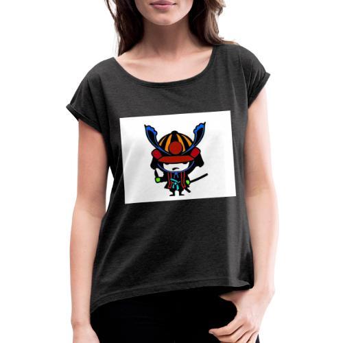 SAMURAJ - T-shirt med upprullade ärmar dam