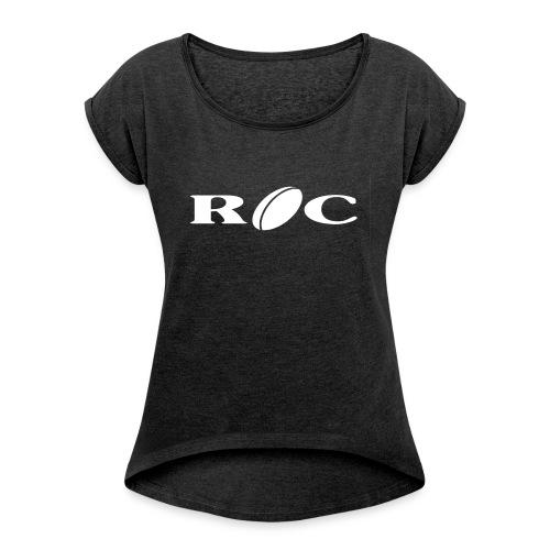 ROC-blanc - T-shirt à manches retroussées Femme