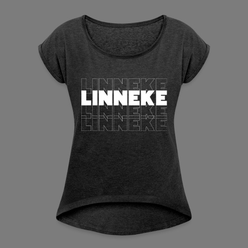 LINNEKE - Women's T-Shirt with rolled up sleeves