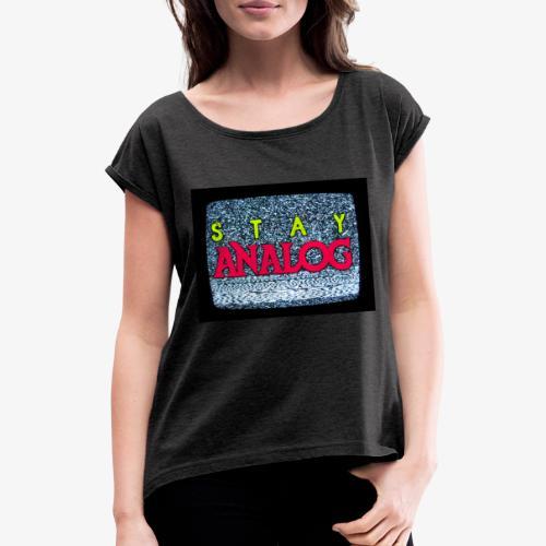 Stay ANALOG FPV - Maglietta da donna con risvolti