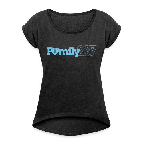 Family237 Blue - Women's T-Shirt with rolled up sleeves