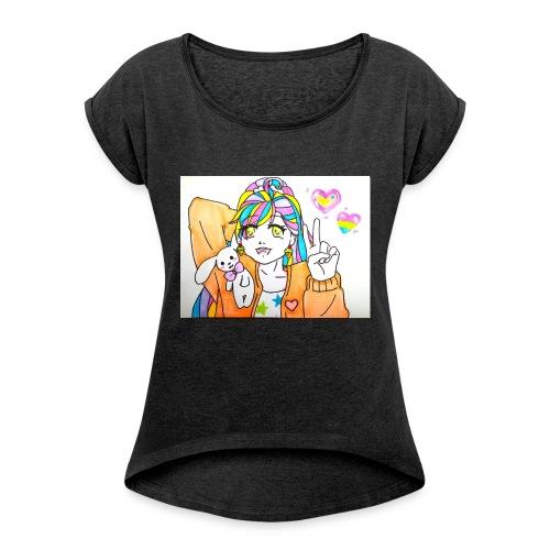 Kawaii 1 - T-shirt à manches retroussées Femme