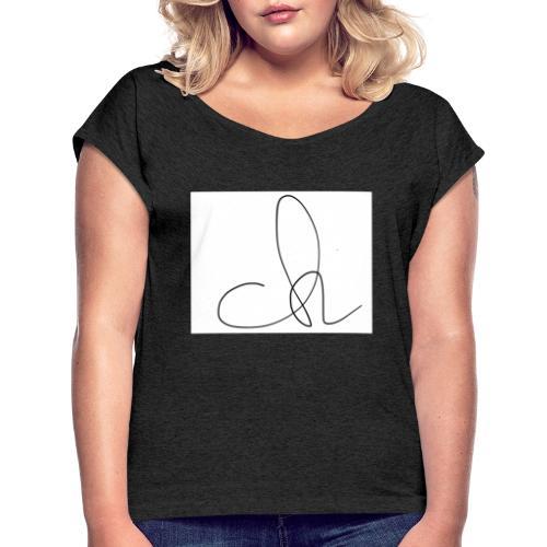 Colin Hoodie - Frauen T-Shirt mit gerollten Ärmeln