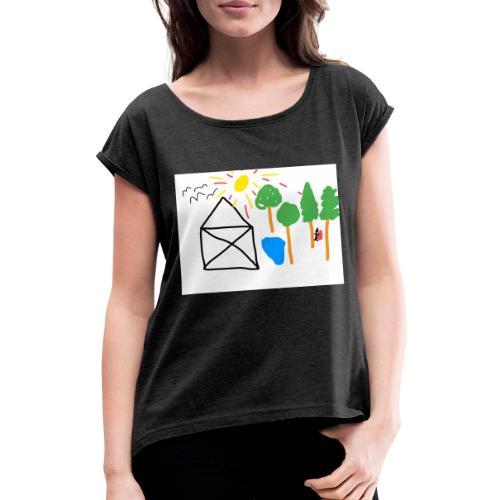 Death in the Forest II - Frauen T-Shirt mit gerollten Ärmeln
