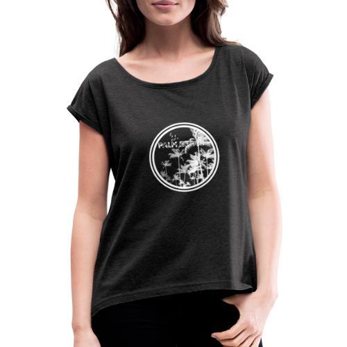 palm beach1 - Camiseta con manga enrollada mujer
