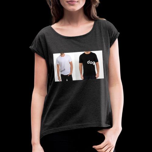 joy7mff0n4251 - Vrouwen T-shirt met opgerolde mouwen