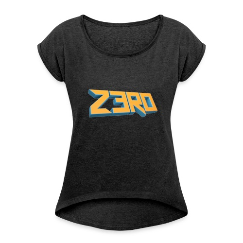 The Z3R0 Shirt - Women's T-Shirt with rolled up sleeves