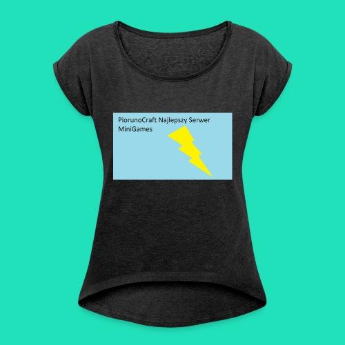 Etui Piorunowe Na Telefon 6s - Koszulka damska z lekko podwiniętymi rękawami