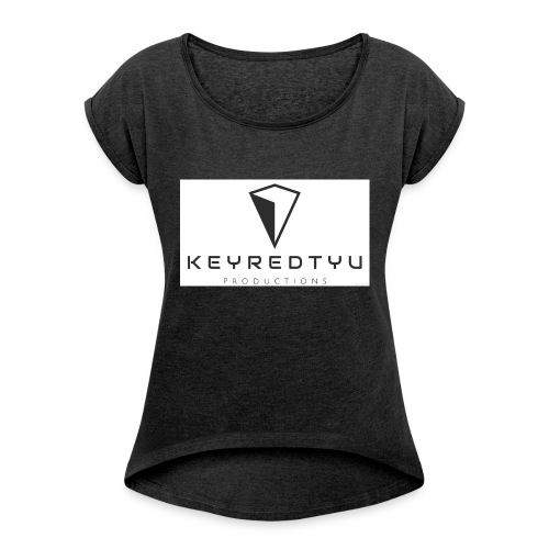 Keyredtyu Productions - T-shirt med upprullade ärmar dam