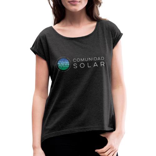 Comunidad Solar BASIC + Black - Camiseta con manga enrollada mujer