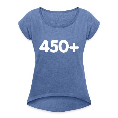 450 - Vrouwen T-shirt met opgerolde mouwen