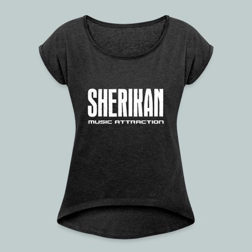 Sherikan logo - T-shirt med upprullade ärmar dam