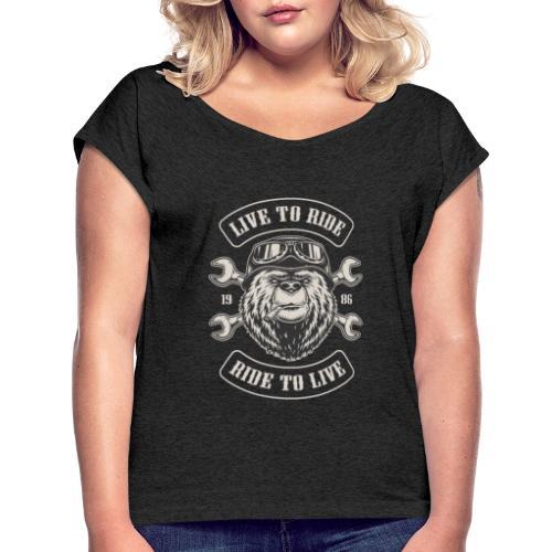 LTR Bear Dark - T-shirt à manches retroussées Femme