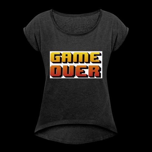 996AA894 1EB1 43D8 9C82 E5C9D452FE92 - T-shirt med upprullade ärmar dam