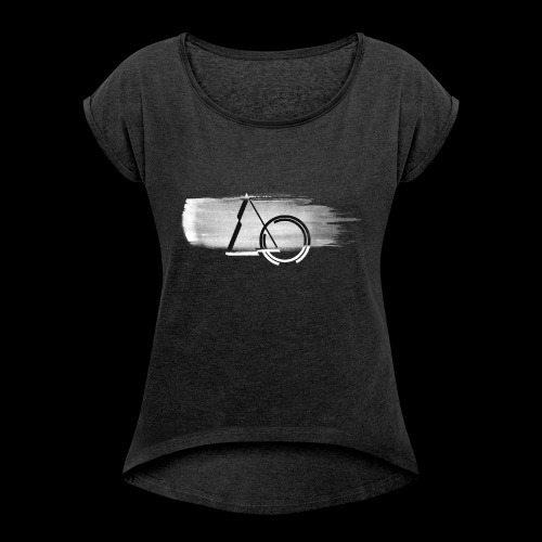 Large shape Paint - Women's T-Shirt with rolled up sleeves