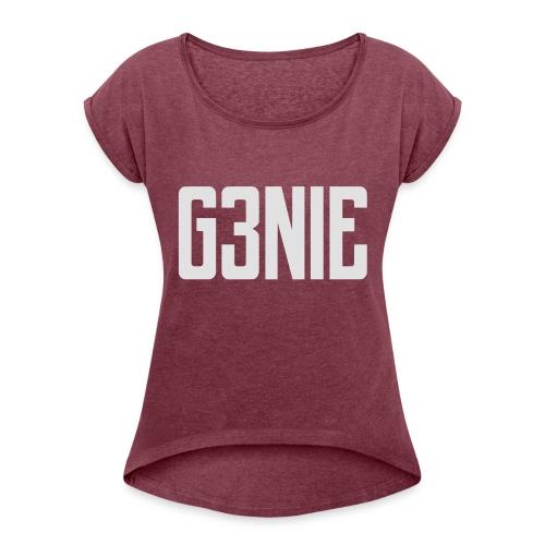 G3NIE case - Vrouwen T-shirt met opgerolde mouwen