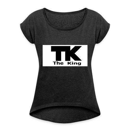 The King med ram - T-shirt med upprullade ärmar dam