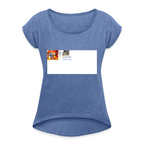 uiioo - Women's T-Shirt with rolled up sleeves