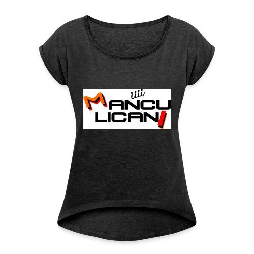 manculicani - Maglietta da donna con risvolti