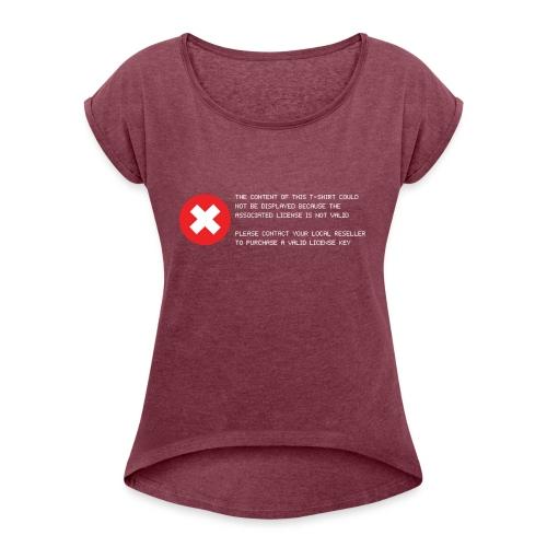 T-shirt Error - Maglietta da donna con risvolti