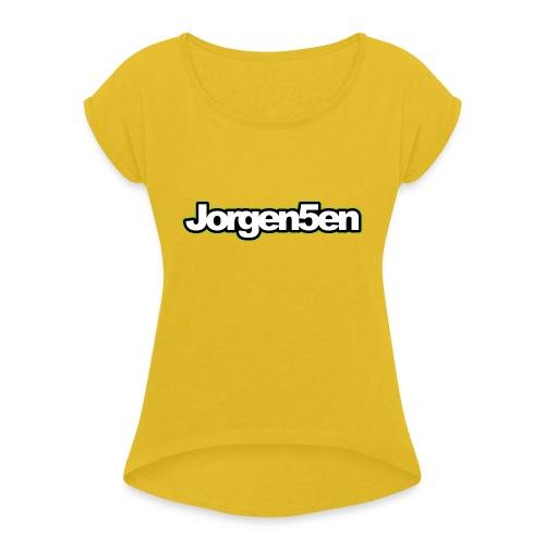 tshirt - Dame T-shirt med rulleærmer