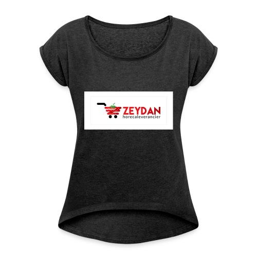 Zeydan - Vrouwen T-shirt met opgerolde mouwen