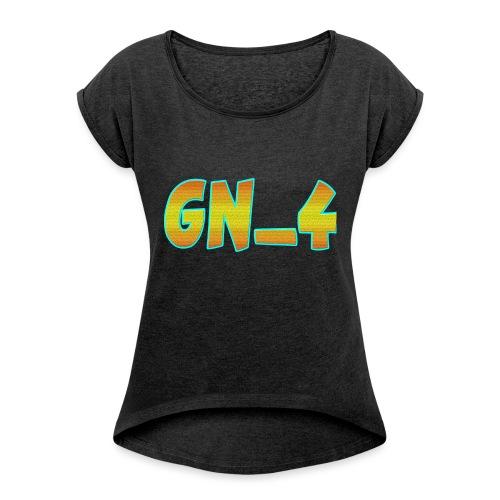 GamingNerd_4 Die YouTuber - Frauen T-Shirt mit gerollten Ärmeln