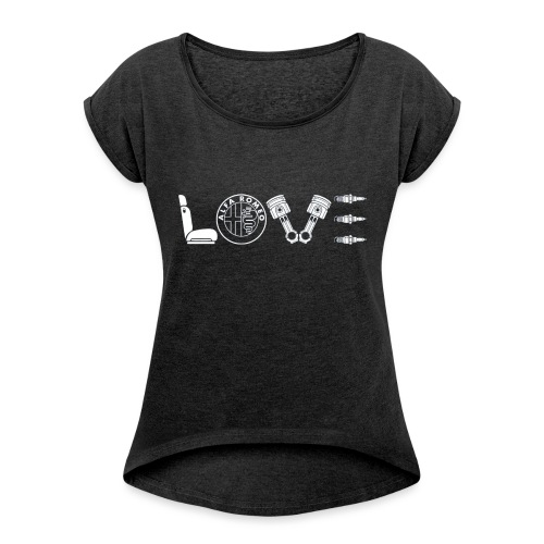 Love Alfa - Maglietta da donna con risvolti