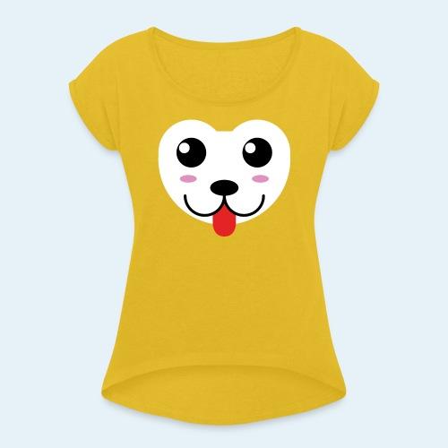 Husky perro bebé (baby husky dog) - Camiseta con manga enrollada mujer