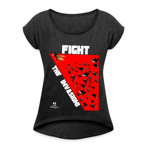 FIGHT THE INVASION - Camiseta con manga enrollada mujer