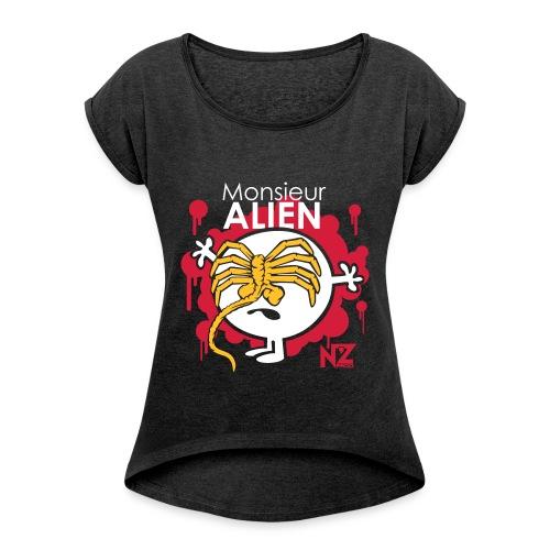Mr Alien - T-shirt à manches retroussées Femme