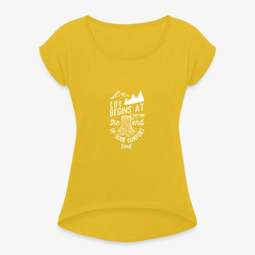 comfortzone - Women's T-Shirt with rolled up sleeves